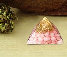 Orgone Pyramid Rose Quartz Crystal Energy Generator EMF Protection Reiki