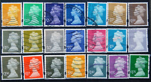 A Fine Collection Of Used GB High Value Machin Security Definitives.