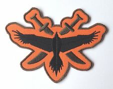 Halo Hawk Team Patch (4 Inch) Embroidered Iron on Badge Applique Black / Orange