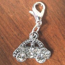 charms argentée voiture strass