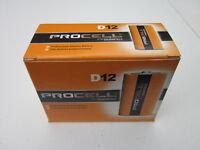 Duracell Procell D Alkaline Battery Pack of 12 Batteries D12 - Brand New