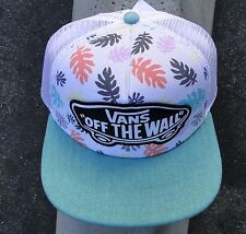 Vans Beach Girl Trucker Unisex Skate Co. Floral Snapback Hat One size