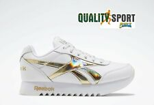 Reebok Royal CLJog Platform Bianco Oro Scarpe Shoes Donna Sneakers FW8187 2020