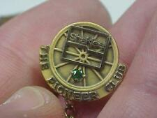 Shaklee Pioneer Club Gold Filled Emerald Stone  Pin (16G1)