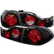 Honda 98-00 Accord 4dr Black Euro Style Rear Tail Lights Brake Lamp Set Sedan