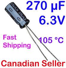 2pcs 270uF 6.3V 6.3x11mm Nichicon PJ Low Impedance For TV LCD PC AUDIO PS DVD AV