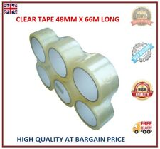 More details for clear tape big rolls parcel packing 48mm x 66m cellotape packaging