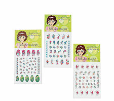 12 packs Nail Art 360 Decals Girl's Spa Birthday PARTY FAVORS Rub On Fingernail