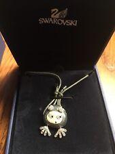 Swarovski Elvis Frog Bracelet Gray Cord, BNIB