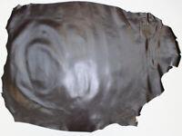 Goatskin Skiver Leather Dark Chocolate 8 - 8.50 Sq Ft, 0.5-0.7 mm bookbinding