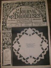 Le journal des brodeuses N° 306 1930 Broderie Couture Manche de l'Aube Drap Diy