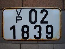 altes Nummernschild + Kennzeichen VP 02 - 1839 + DDR - Autokennzeichen - Polizei
