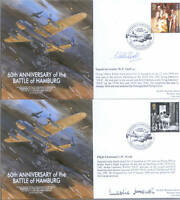 MF7 WW2 RAF Avro Lancaster Battle of Hamburg cover signed WALTER DFC & HEATH
