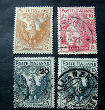"ITALIA, ITALY REGNO 1915-16  "" Pro Croce Rossa"" 4V.Cpl set USED ss.102/105"