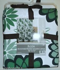 "MICROFIBER PRINTED FABRIC SHOWER CURTAIN   70""X 72""  NEW WITH TAGS"