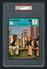 PSA 9 THE STANLEY CUP with SAVARD and COURNOYER Sportscaster Hockey Card #40-24