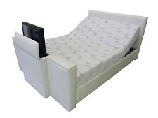 New TV Electric Lift Bed adjustable Posture Slat base Queen King Double