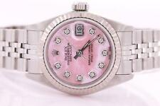 Rolex Datejust Ladies Stainless Steel Automatic Diamond Watch with Papers & Box