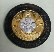 RARE: 2001 Gibraltar 1 Crown Silver Proof Tri-Colour Coin