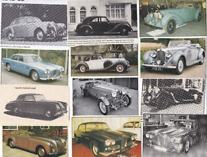 37 LOT Vintage LAGONDA Automobiles, Great Variety of Magazine Clips