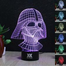 Star Wars Darth Vader 3D LED Acrílico Luz de noche Lámpara nocturna Regalos