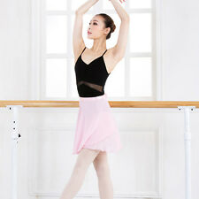 New Women Kids Chiffon Ballet Wrap over Scarf Skirt Dance Leotard Tutu Dress uk