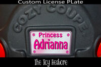 Pink Princess Decals Stickers fits Little Tikes Cozy Coupe License Number Plate