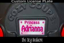 Decals Stickers fits Little Tikes Cozy Coupe License Number Plate Pink Princess