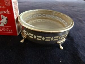 Vintage Silver Plated/EPNS Glass lined footed dish/coaster