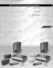 Bose 321 GS Series Entertainment System Owners Manual User Guide