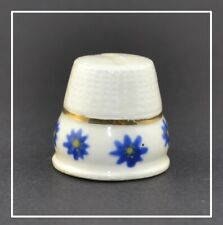 HAND PAINTED BLUE FLOWER THIMBLE