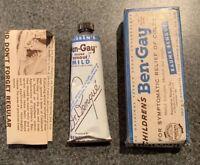 Vintage Sports Creme NOS Tube Children's Ben-Gay 1950s Unopened Bengay Retro