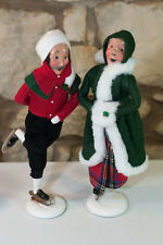 Byers Choice Ltd. Carolers Man 33/100 & Woman 83/100 Ice Skater Figurine 1991