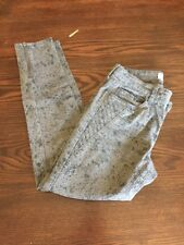 Banana Republic Grey Skinny Womens   6 Snake Print Pants With Zippers 28
