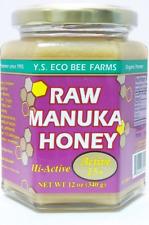 YS Eco Bee Farms Raw Manuka Honey Organic Hi Active 15+ 12 oz