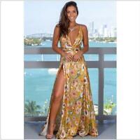 Summer Maxi Women's Long Dress Party Floral Sundress Evening Beach Boho Cocktail
