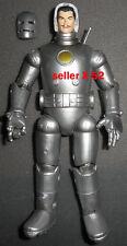 TONY STARK silver IRON MAN figure MARVEL LEGENDS face reveal Avengers x-men toy