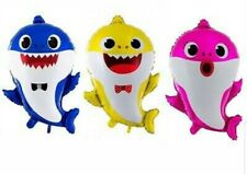 baby shark Foil  balloons (blue and pink)