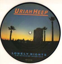 """Uriah Heep(7"""" Vinyl Picture Disc)Lonely Nights-Bronze-BROP 166-UK-1983-Ex/Ex"""