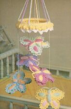 BUTTERFLY MOBILE BABY DIGEST SIZE CROCHET PATTERN INSTRUCTIONS
