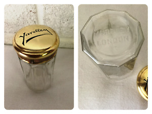 Vintage Yardley Perfume Bottle - Glass With Metal Lid - London - England