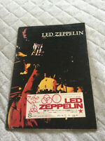 Led Zeppelin japan tour book/ticket stub 1972 Tokyo Budokan Jimmy Page