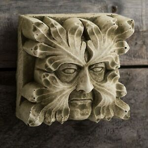 Square Gothic Gargoyle Reconstituted Stone Wall Hanging