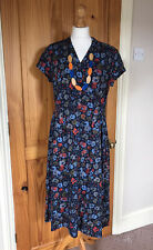 SEASALT - Pencil Box Dress - Scattered Flower Magpie - Size 16 - BNWT