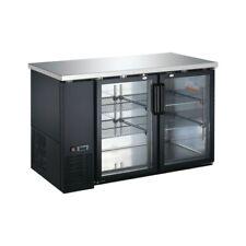 """60"""" Glass Door Back Bar Cooler - Double Door Beverage Cooler - Counter Height"""
