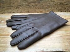 Vintage Ladies Taupe Brown Vinyl Gloves/Retro/Fitted/60's/70's/Leather Look