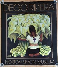 """DIEGO RIVERA """"Girls With Lilies"""" Large 33""""x38"""" Poster Norton Simon Museum 2006"""