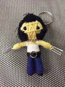 Logan Wolverine Project X Handmade Textile String Doll Voodoo Keychain Keyring