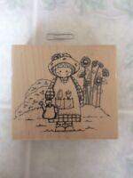 Garden Country Cutie 73 JJ Embossing Arts Wood & Foam Rubber Stamp