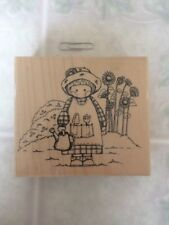 Garden Country Cutie 73 Jj Embossing Arts Wood & Foam Rubber Stamp